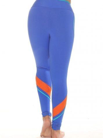 CAJUBRASIL 4867 Sexy Leggings Brazilian Recortes Blue