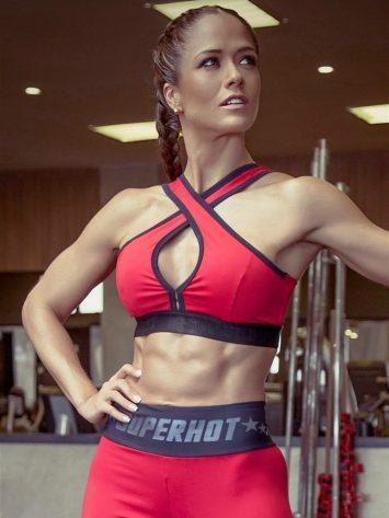 SUPERHOT Sexy Workout Tops Cute Yoga Sport Bra TOP680