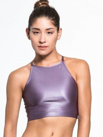 CHILL by WILL Alive Top Sexy Yoga Pilates Bra Top Purple