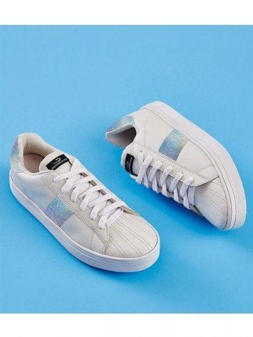 CAJUBRASIL 6810 Tennis Sneaker Shoes White Silver Stripe
