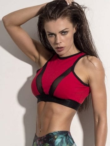 SUPERHOT MOVING RED TOP – TOP1084 – Sexy Workout Tops Cute Yoga Sport Bra