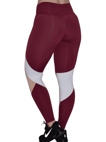 OXYFIT Leggings Cutouts 64056 Burgundy- Sexy Workout Leggings