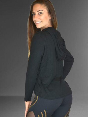 LABELLAMAFIA Long Sleeve Hoody Top FBL11842 Hardcore Ladies