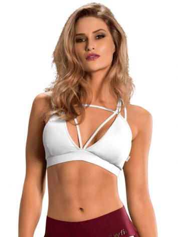 OXYFIT Bra Top Cutouts 27089 White – Sexy Sports Bras