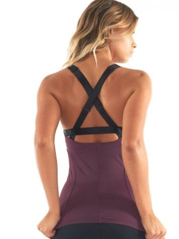 L'URV Tank Little Love Cami Sexy Workout Top in Fig