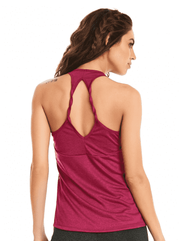 CAJUBRASIL-9607 Raspberry Sexy Workout Tank Top- Yoga Pilates Top