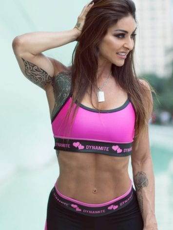 DYNAMITE Sports Bra Top T206 Top Swimmer Cirre Rose-Sexy Tops