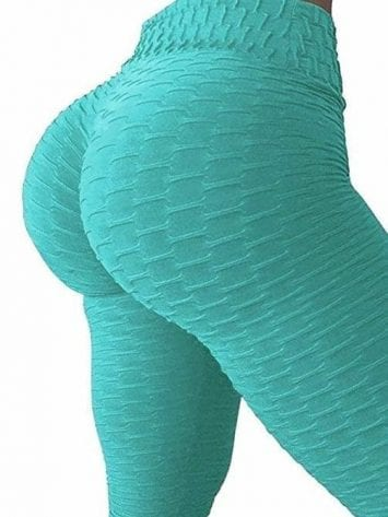 Scrunchy Leggings HoneyComb – High-Waist Anti-Cellulite –Emerald BFB