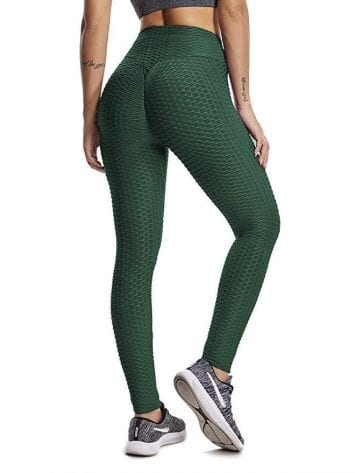 Scrunchy Leggings HoneyComb – High-Waist Anti-Cellulite – Green BFB