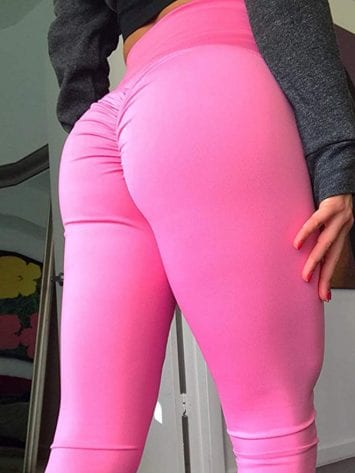 Scrunchy Leggings HoneyComb – High-Waist Anti-Cellulite – Rose Red BFB