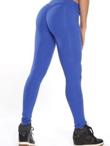 Scrunchy Leggings HoneyComb – High-Waist Anti-Cellulite – Blue BFB