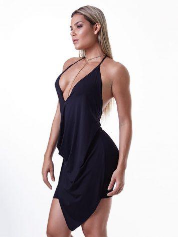 LabellaMafia Dress MVT16207 Dark Metal Impress Dress