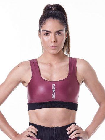 LabellaMafia Hardcore Claret Fitness Sports Bra Top – FTP13847