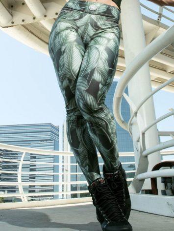 DYNAMITE BRAZIL Leggings L400 Green Leaves – Sexy Leggings