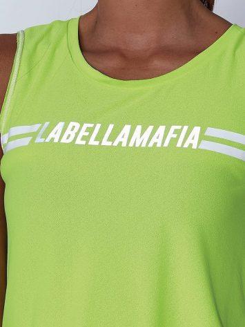 LabellaMafia Neon Lemon Cropped Top - FBL13887