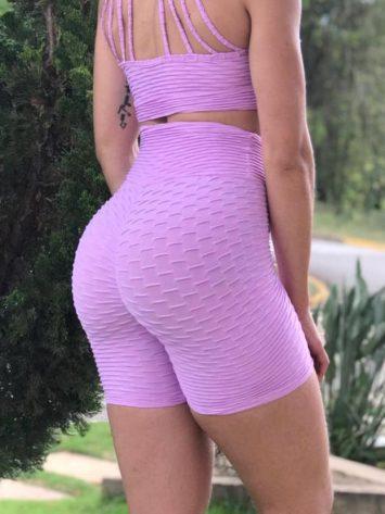 BFB Shorts- Brocade Butt – Scrunchie – Purple Cloud
