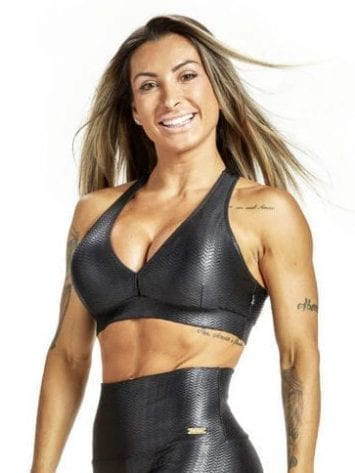 OXYFIT Sports Bra Top Chevron 27220 Black – Sexy Sports Bra