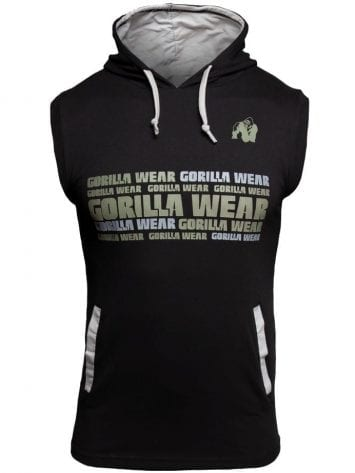 Gorilla Wear Melbourne S/L Hooded T-shirt – Black