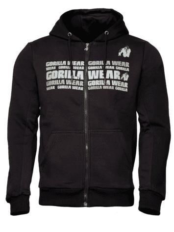 Gorilla Wear Bowie Mesh Zipped Hoodie – Black