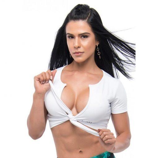 BFB Activewear Crop Top Sexy Lust - white