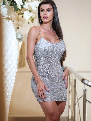 DYNAMITE BRAZIL Simkhe Platinum Dress – Silver