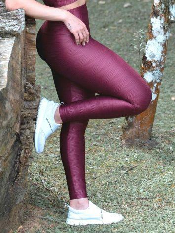 Oxyfit Leggings Curl Pattern 64250- Burgundy