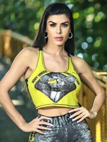 DYNAMITE BRAZIL VUC Cropped Tank Top – Yellow