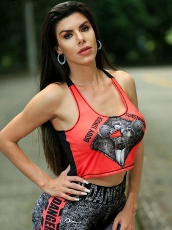 DYNAMITE BRAZIL VUC Cropped Tank Top – Red