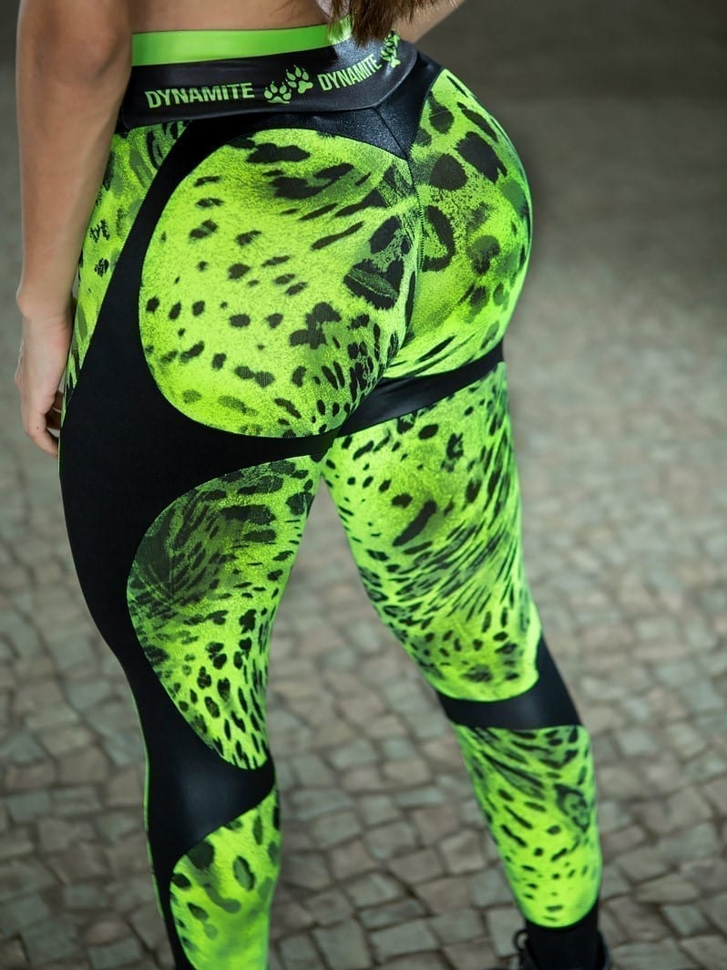 DYNAMITE Brazil Leggings L2094 Apple Booty Skedarr - Camo Lime