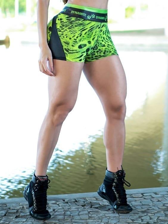 DYNAMITE BRAZIL Shorts SH2094 Apple Booty Shorts Ojeu – Camo Neon