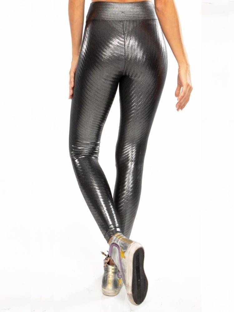 Koral Drive Glaze High Rise Legging - Silver Black