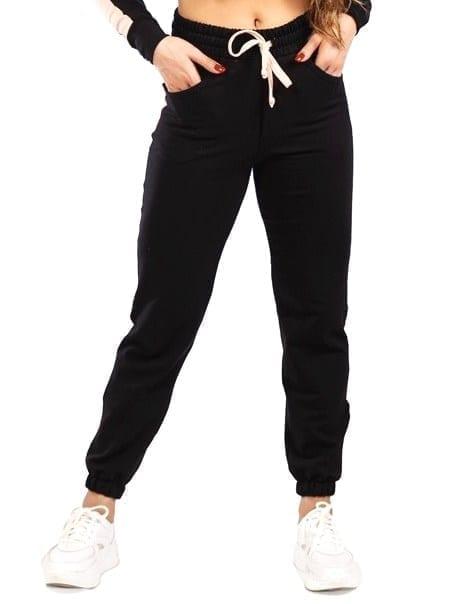 Let's Gym Jogger Fleece Stay Home sweat pants – Black