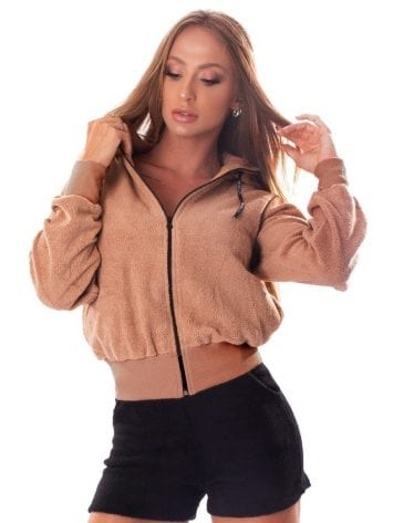 Let's Gym Fluffy Lust Sherpa Jacket – Nude
