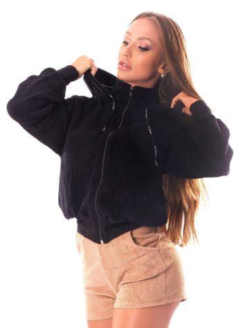 Let's Gym Fluffy Lust Sherpa Jacket – Black