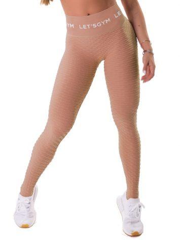 Let's Gym Seamless Brocada Leggings – Nude