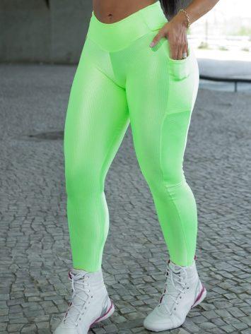 Dynamite Brazil High Waist Garasy Legging – Neon Green