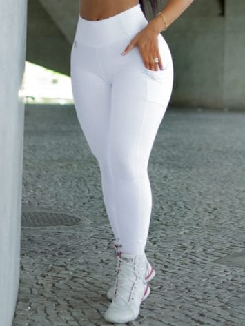 Dynamite Brazil High Waist Garasy Legging – White