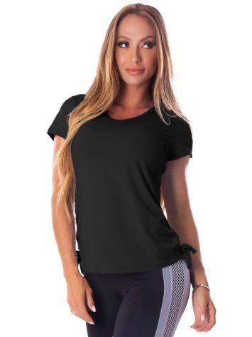 Let's Gym Fitness Blousa Soft Dry Top – Black