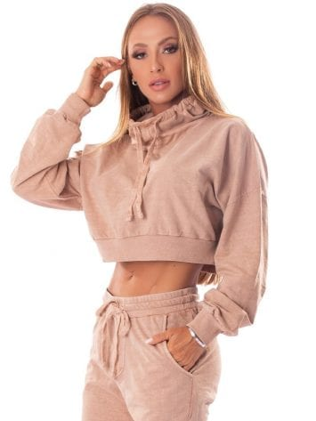 Let's Gym Fitness Cropped Estonado Fashion – Nude