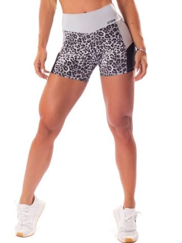 Let's Gym Fitness Cheetah Power Shorts – Silver