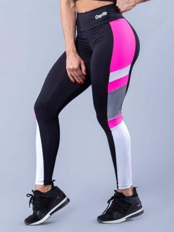 Oxyfit Activewear Leggings Fly- Black/White/Pink