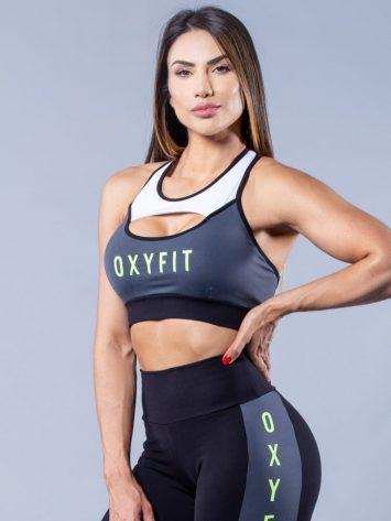 Oxyfit Activewear Sports Bra Top Reason – Black/Grey/White/Neon Lime