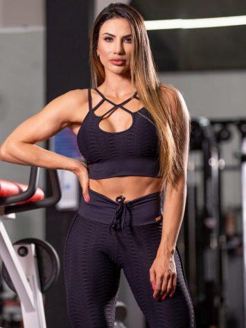 Oxyfit Activewear Sports Bra Top Track – Black