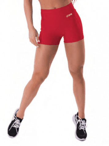 Let's Gym Fitness Energetic Shorts – Red
