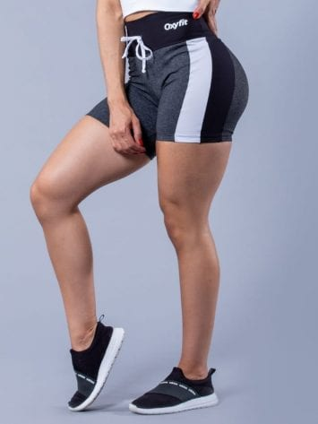 Oxyfit Activewear Bermuda Charming Shorts – gray/black/white