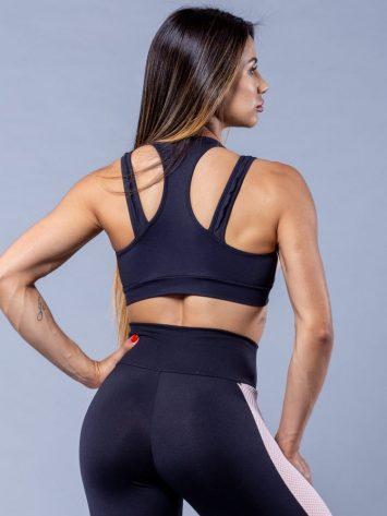 Oxyfit Activewear Sports Bra Top Glam – Black/Nude/White