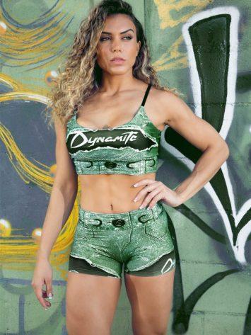 DYNAMITE BRAZIL Placebo Larimar Shorts – Emerald