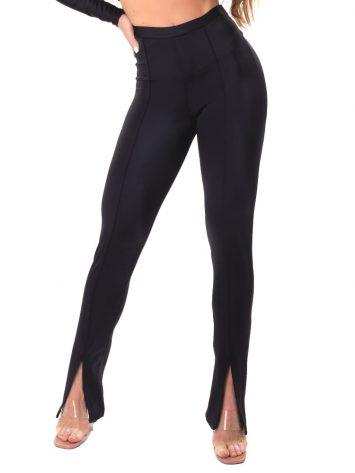 Let's Gym Fitness Slit Ridding Pants – Black