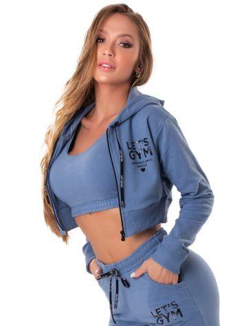 Let's Gym Fitness International Cropped Jacket – Blue