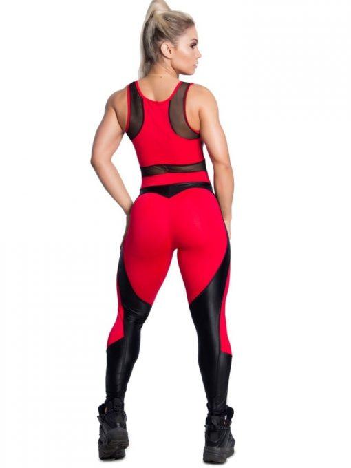 Trincks Fitness Activewear Sweet Red Jumpsuit - Red/Black